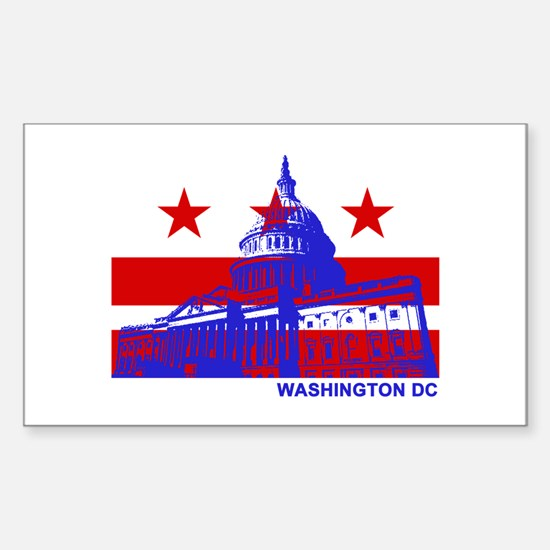 Washington DC Sticker (Rectangle)
