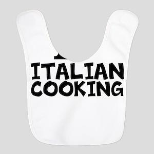 I Love Italian Cooking Polyester Baby Bib