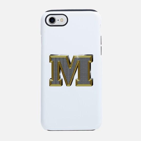 M Gold Diamond Bling iPhone 7 Tough Case