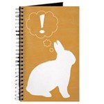 Gold Plot Bunny Blank Journal