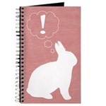 Pink Plot Bunny Blank Journal
