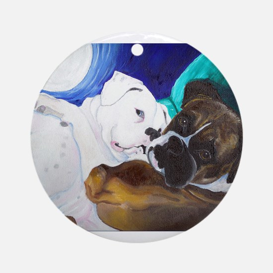 Busted Boxers Ornament (Round)