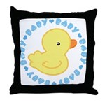 Cute Baby Duck Throw Pillow
