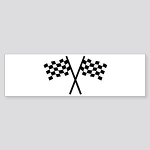 Racing flags Sticker (Bumper)