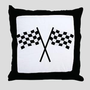 Racing flags Throw Pillow