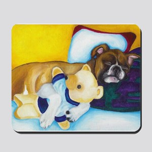 Boxer and Teddy Mousepad