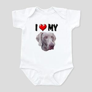 I Love My Weimer Infant Bodysuit