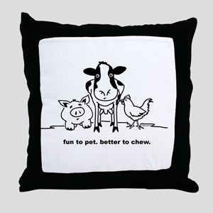 Fun to Pet Throw Pillow