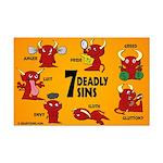 Seven Deadly Sins Mini Poster Print