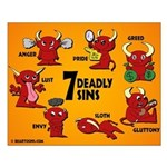 Seven Deadly Sins Small Poster