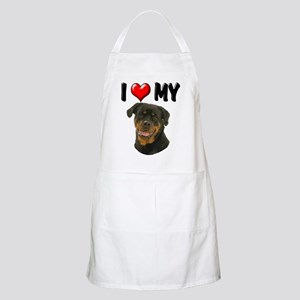 I Love My Rottweiler Apron