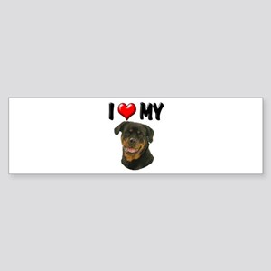 I Love My Rottweiler Sticker (Bumper)