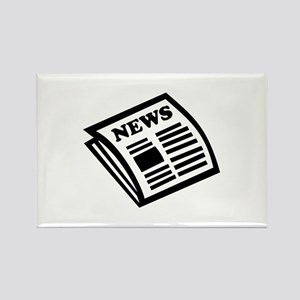Newspaper Rectangle Magnet