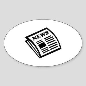 Newspaper Sticker (Oval)