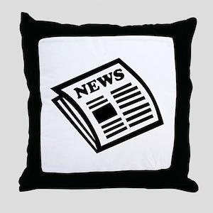 Newspaper Throw Pillow