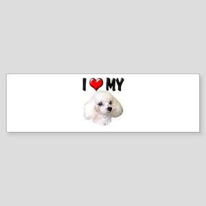 I Love My Poodle Sticker (Bumper)