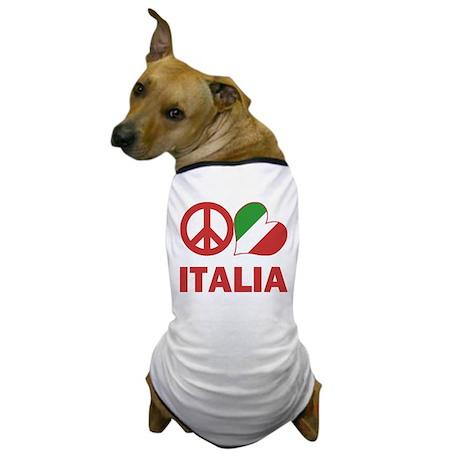 Peace Love Italy Dog T-Shirt