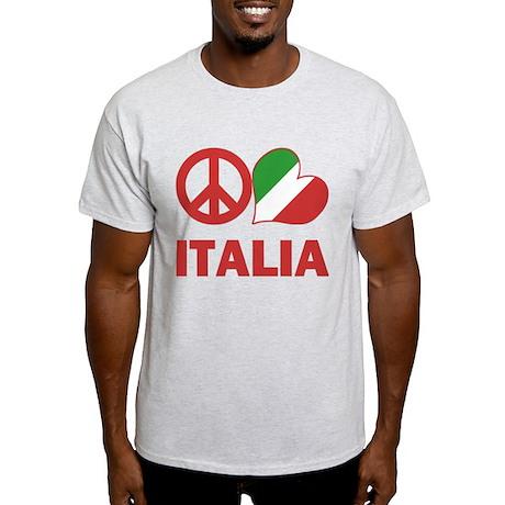 Peace Love Italy Light T-Shirt
