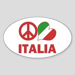 Peace Love Italy Sticker (Oval)