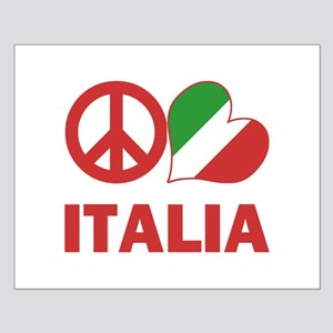 Peace Love Italy Small Poster