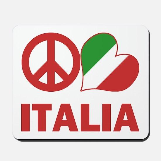 Peace Love Italy Mousepad