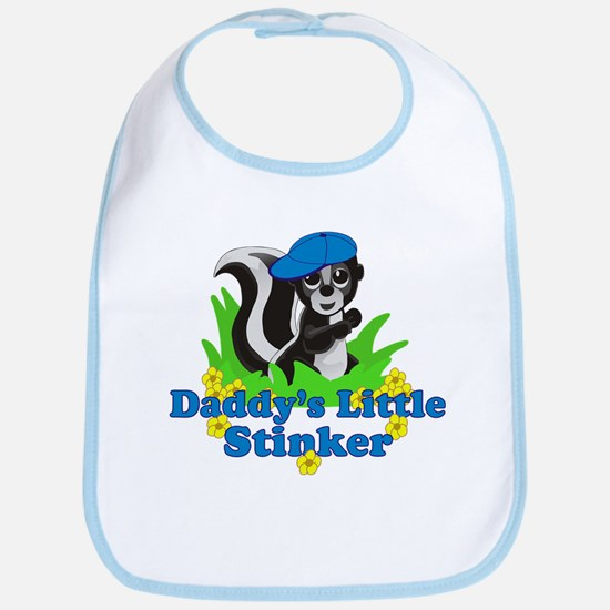 Daddy's Little Stinker Boy Bib