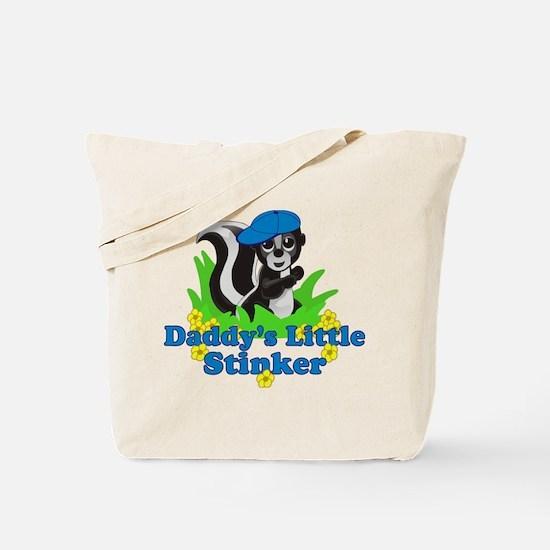 Daddy's Little Stinker Boy Tote Bag