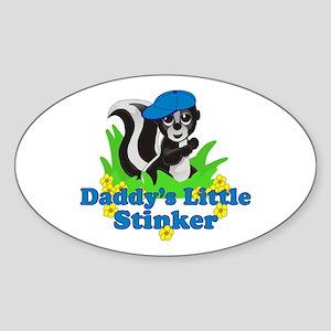 Daddy's Little Stinker Boy Sticker (Oval)