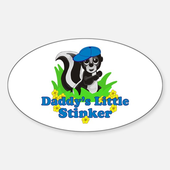 Daddy's Little Stinker Boy Sticker (Oval)