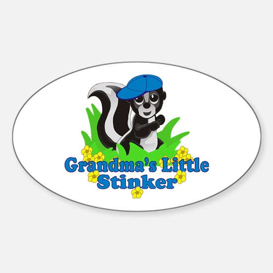 Grandma's Little Stinker Boy Sticker (Oval)