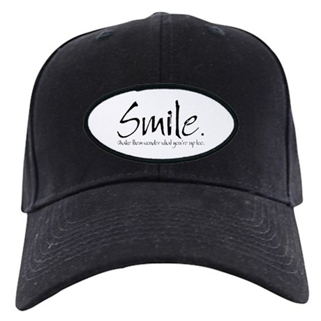 Smile Black Cap