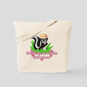 Grandpa's Little Stinker Girl Tote Bag