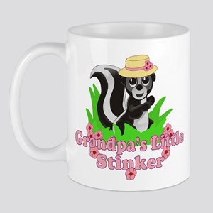 Grandpa's Little Stinker Girl Mug