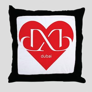 Heart Dubai Throw Pillow