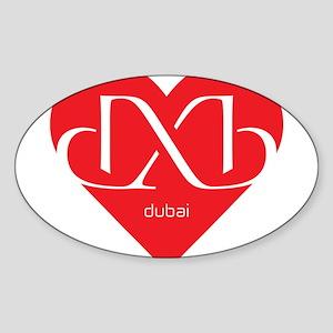 Heart Dubai Sticker (Oval)