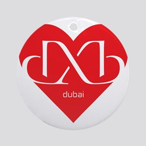 Heart Dubai Ornament (Round)