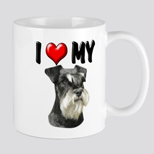I Love My Miniature Schnauzer Mug