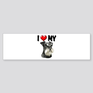I Love My Miniature Schnauzer Sticker (Bumper)