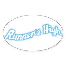 Runner's High Sticker (Oval)