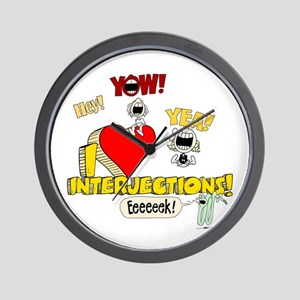 I Heart Interjections Wall Clock