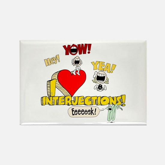 I Heart Interjections Rectangle Magnet (10 pack)