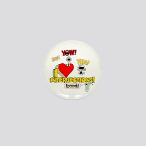 I Heart Interjections Mini Button