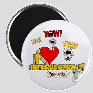 I Heart Interjections Magnet