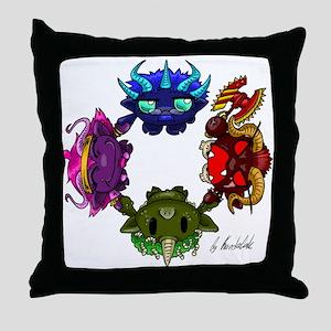 Chaos Gods Throw Pillow