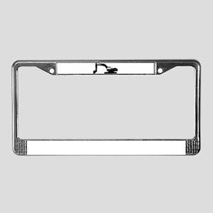 Digger License Plate Frame