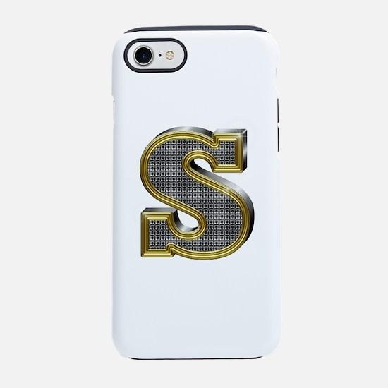 S Gold Diamond Bling iPhone 7 Tough Case