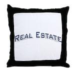Real Estate / Blue Throw Pillow