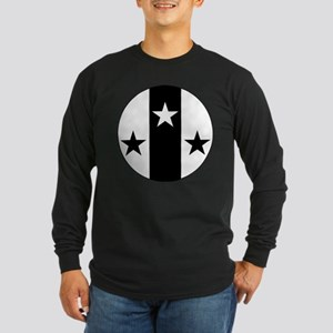 Meridies Populace Badge Long Sleeve Dark T-Shirt