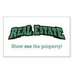 Real Estate / Property Sticker (Rectangle)
