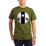 Meridies Populace Badge Organic Men's T-Shirt (dar